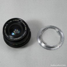 Cámara de fotos: ADAPTADOR A SONY NEX +OBJETIVO GRAN ANGULAR 28MM F2.8 PARA PENTAX. Lote 132595470