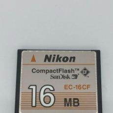 Cámara de fotos: TARJETA COMPACT FLASH NIKON 16MB. Lote 135595222