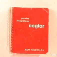 Fotocamere: PUBLICIDAD FOTOS NEGRA INDUSTRIAL -NEGTOR USADO. Lote 136808030