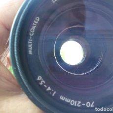Cámara de fotos: OBJETIVO INTERCAMBIABLE SIGMA 70-210 MM - F4-5.6 - UC ZOOM - CON CAJA Y TAPAS. MADE JAPAN . Lote 137304830