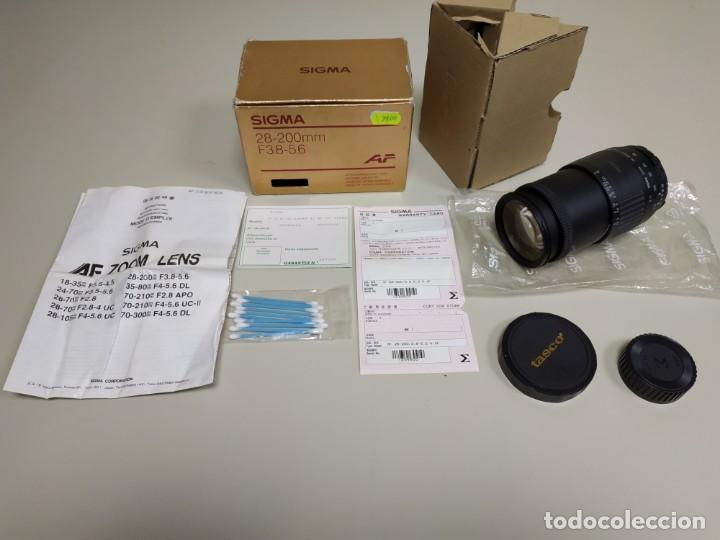 1018- OBJETIVO INTERCAMBIABLE ZOOM SIGMA 28-200 MM F 38 - 5.6 MADE IN JAPAN (Cámaras Fotográficas Antiguas - Objetivos y Complementos )