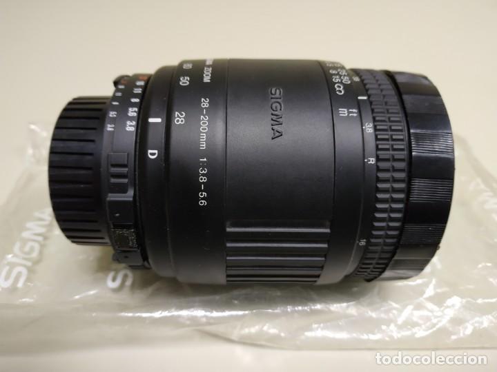 Cámara de fotos: 1018- OBJETIVO INTERCAMBIABLE ZOOM SIGMA 28-200 MM F 38 - 5.6 MADE IN JAPAN - Foto 4 - 138000550