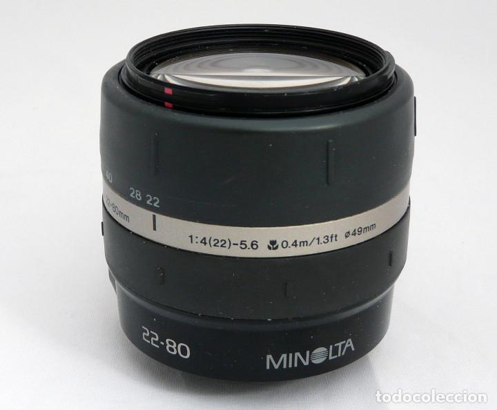 OBJETIVO MINOLTA 22-80MM F4-5.6 (Cámaras Fotográficas Antiguas - Objetivos y Complementos )