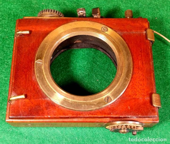 OBTURADOR THORNTON PICARD C 1900, DE MADERA (Cámaras Fotográficas Antiguas - Objetivos y Complementos )