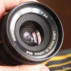 Cámara de fotos: ANGULAR HEXANON (KONICA), 28MM F:3,5 + ESTUCHE. Lote 142420366