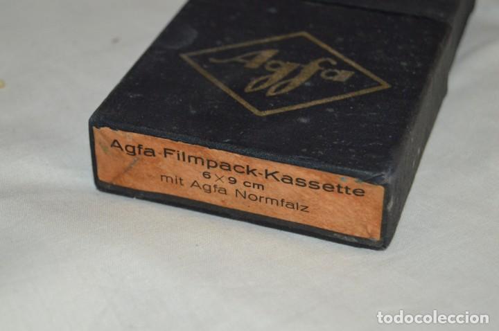 Cámara de fotos: ANTIGUO CASETE DE PELICULA AGFA - AGFA FILMPACK KASSETTE - EN CAJA ORIGINAL - VINTAGE - ENVÍO 24H - Foto 11 - 143873542