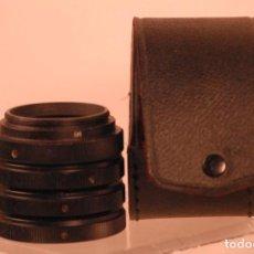 Cámara de fotos: 3 TUBOS ACERCAMIENTO M42 ESTUCHE. Lote 144840370