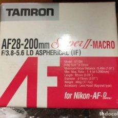Cámara de fotos: TAMRON AF 28-200MM F3.8-5.6 LD ASPHERICAL IF SUPER II MACRO. Lote 147151774