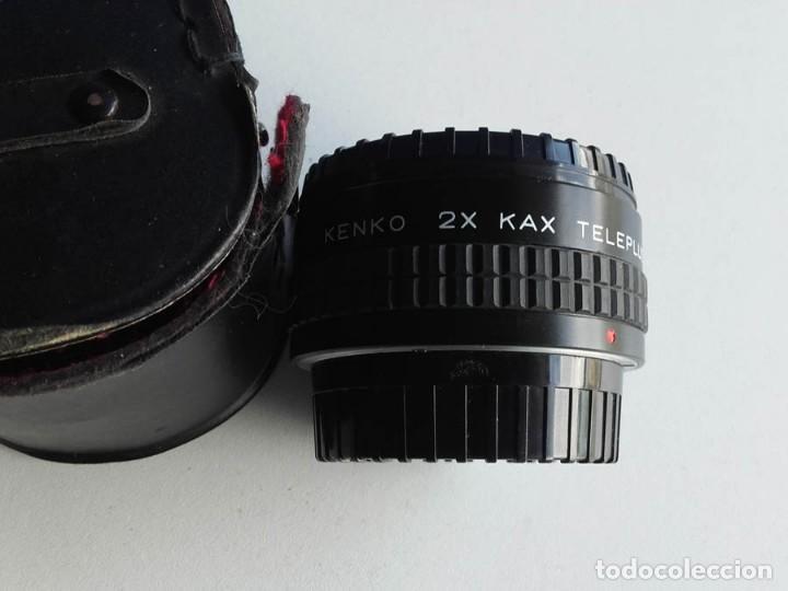 OBJETIVO DUPLICADOR KENKO 2X KAX TELEPLUS PARA ASAHI PENTAX CON FUNDA (Cámaras Fotográficas Antiguas - Objetivos y Complementos )