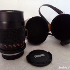 Cámara de fotos: OBJETIVO ITOREX 135MM PARA MONTURA MARCA CONTAX / YASHICA. Lote 148456602
