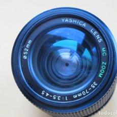 Cámara de fotos: ZOOM YASHICA 35-70 MM./ 3,5-4,5 - CON MONTURA Y-C DE YASHICA-CONTAX. Lote 148729638