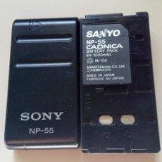 Cámara de fotos: DOS BATERIAS NP-55 SANYO Y SONY. Lote 149598642