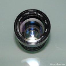 Cámara de fotos: OBJETIVO TELEZOOM 70-150MM F3.5 A ROSCA M42 SOLIGOR DEFECTUOSO. Lote 149866226