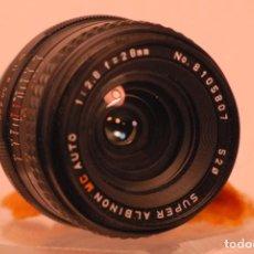 Cámara de fotos: OBJETIVO SUPER ALBINON M.C AUTO 1.2.8.28 M PARA PENTAX ANALOGICO. Lote 149948582