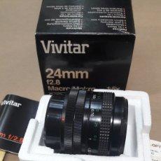 Cámara de fotos: OBJETIVO VIVITAR 24 MM CANON 52 MM NUEVO. Lote 151010104