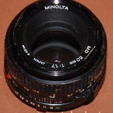Cámara de fotos: OBJETIVO MINOLTA MD 50 MM 1 : 1.7 - USADO. Lote 152223346