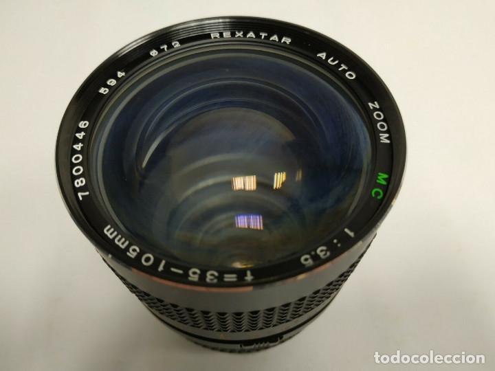 Cámara de fotos: 419- REXATAR AUTO ZOOM MC 1:35 F=35 - 105MM 7800446 JAPAN VINTAGE - Foto 3 - 153076774