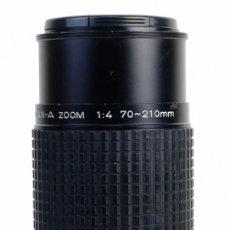 Cámara de fotos: OBJETIVO SMC PENTAX-A ZOOM 1:4 70-210 MM. Lote 154018294