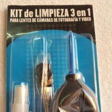 Cámara de fotos: KIT DE LIMPIEZA 3 EN 1 PARA LENTES DE CAMARAS DE FOTOGRAFIA Y VIDEO. Lote 164702944