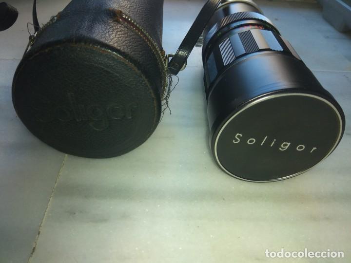 OBJETIVO SOLIGOR AUTO- ZOOM F=75 MM - 260 MM (Cámaras Fotográficas Antiguas - Objetivos y Complementos )