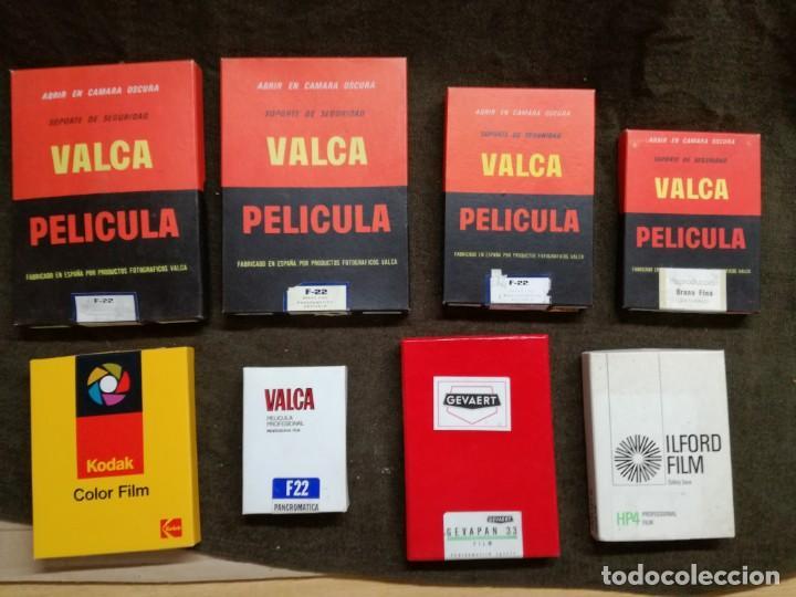 LOTE DE 8 CAJAS DE PAPEL FOTOGRAFICO PELICULA PLANA.VER FOTOS.VALCA,KODAK,GEVAERT... (Cámaras Fotográficas Antiguas - Objetivos y Complementos )