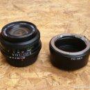 Cámara de fotos: MONTAJE A SONY NEX (MOUNT- E) DE OBJETIVO PARA PENTAX 28MM F 2.8 MARCA CORTON. Lote 157711886