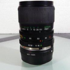Cámara de fotos - ADAPTADOR A SONY ALPHA NEX MAS OBJETIVO PARA MINOLTA MD 28-80mm f3.5-5.6 MACRO - 157751186