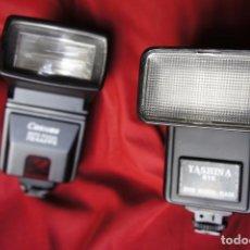 Cámara de fotos: LOTE DE DOS FLASHES ELECTRÓNICOS FUNCIONANDO. Lote 159435166