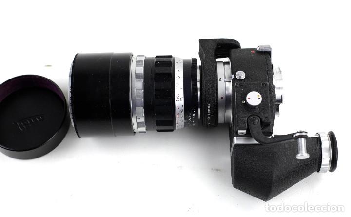 Cámara de fotos: OBJETIVO PARA LEICA, 200 MM. f4. TELYT. LEITZ. CON EL VISOR Y VISOFLEX, VER FOTOS. EN BUEN ESTADO. - Foto 3 - 107917535