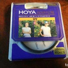 Cámara de fotos: FILTRO HOYA 58 MM PITCH.0.75 UV. Lote 160595594