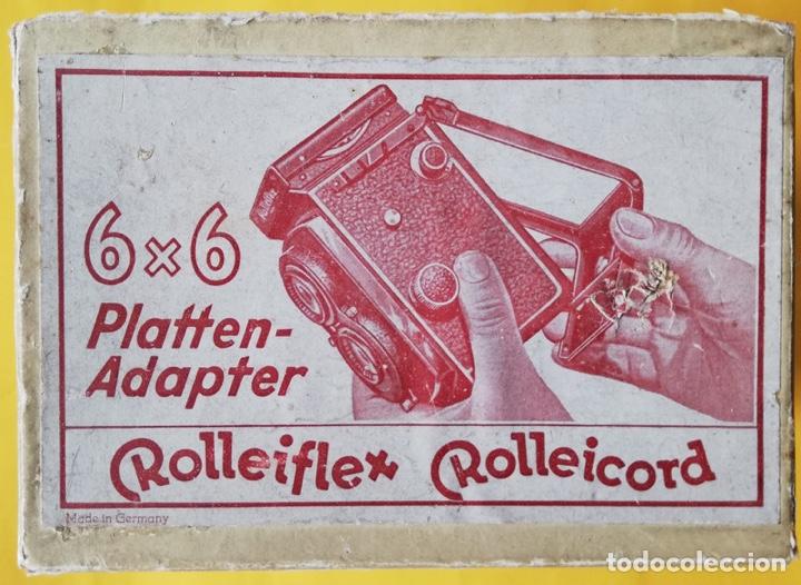 ROLLEIFLEX ROLLEICORD. ADAPTADOR DE PLACAS PARA CHASIS 6X6. (Cámaras Fotográficas Antiguas - Objetivos y Complementos )