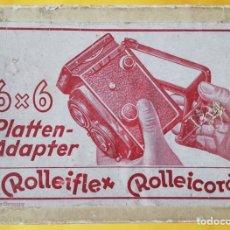 Cámara de fotos: ROLLEIFLEX ROLLEICORD. ADAPTADOR DE PLACAS PARA CHASIS 6X6.. Lote 162395530