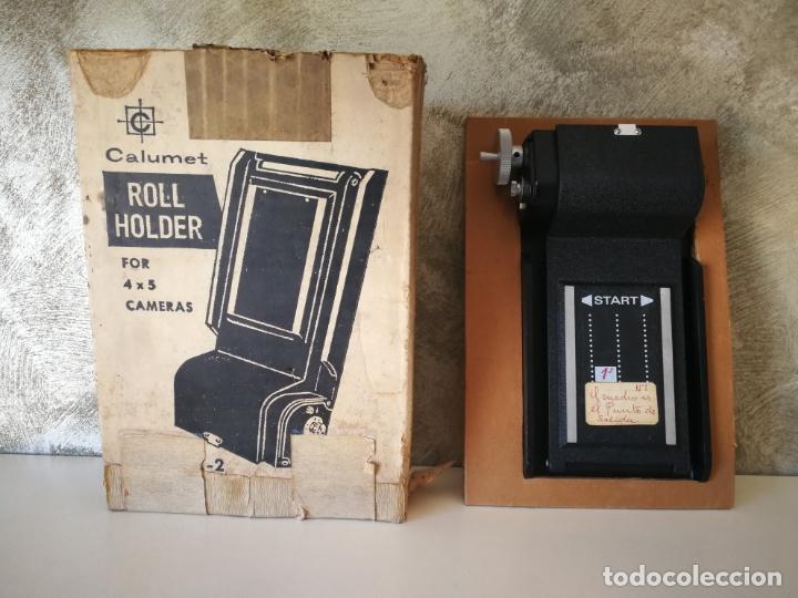 ROLL HOLDER MODEL C2 CALUMET (Cámaras Fotográficas Antiguas - Objetivos y Complementos )