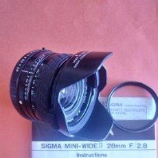 Cámara de fotos: SIGMA MINI-WIDE II. 28 MM. F/2.8. Lote 166823182