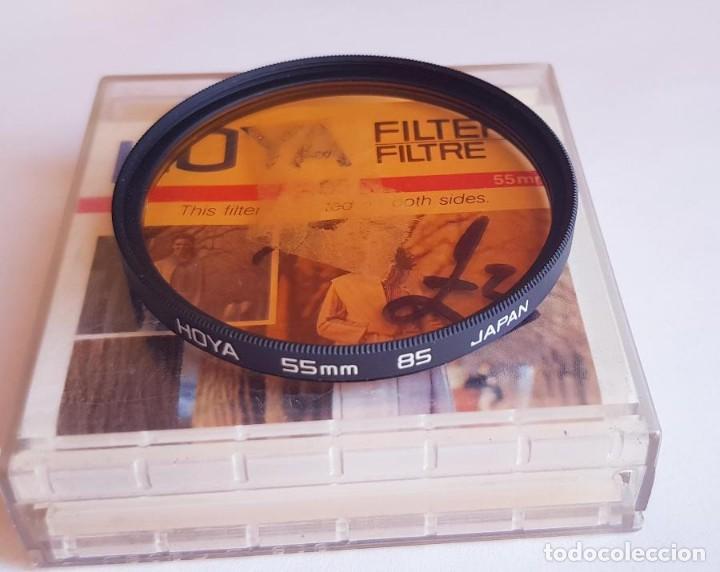 FILTRO NARANJA HOYA 85 55 MM. (Cámaras Fotográficas Antiguas - Objetivos y Complementos )