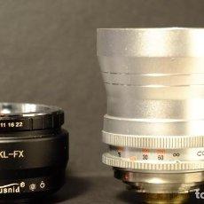Cámara de fotos: OBJETIVO MAS ADAPTADOR SCHENEIDER KREUZNACH RETINA-TELE-XENAR F.4 135MM + ADAPTADOR A FX. Lote 168387724