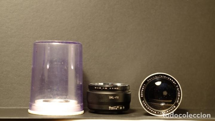 Cámara de fotos: Objetivo mas adaptador Scheneider Kreuznach Retina-Tele-Xenar f.4 135mm + adaptador a fx - Foto 5 - 168387724