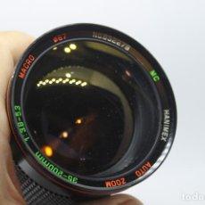Cámara de fotos: ZOOM HANIMEX 35-200 1:3,8-5,3 MACRO (BAYONETA FUJICA AX) . Lote 170936905