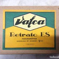 Cámara de fotos: CAJA VALCA RETRATO ES. ORTOCROMATICA - ANTIHALO-6 PLACAS 10X15.CAJA ABIERTA. Lote 172303760