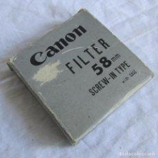 Cámara de fotos: FILTRO FOTOGRÁFICO CANON 58 MM. Lote 173989994