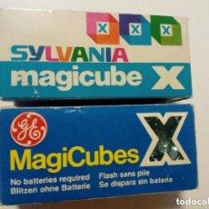 Cámara de fotos: LOTE 6 MAGICUBE X FLASH: 3 SYLVANIA + 3 GENERAL ELECTRIC - LOMOGRAPHY, EXPERIMENTAL -. Lote 174431728