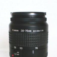 Cámara de fotos: OBJETIVO - CANON ZOOM LENS EF 38-76 MM 1:4.5-5.6 - EOS - FILM & DIGITAL . Lote 176279084