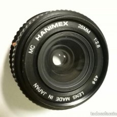 Cámara de fotos: PARA REPARAR - OBJETIVO ANGULAR (MONTURA PENTAX K): HANIMEX MC 28MM 1:2.8 - LENS MADE IN JAPAN. Lote 176279382