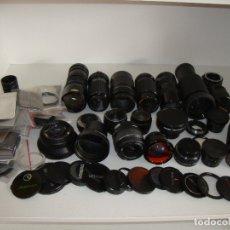 Cámara de fotos: INTERESANTE LOTE DE OBJETIVOS TAPAS COMPLEMENTOS DESCONOCEMOS EL TEMA. Lote 176413094