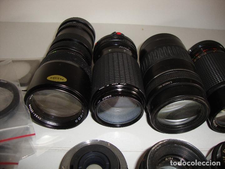 Cámara de fotos: INTERESANTE LOTE DE OBJETIVOS TAPAS COMPLEMENTOS DESCONOCEMOS EL TEMA - Foto 3 - 176413094