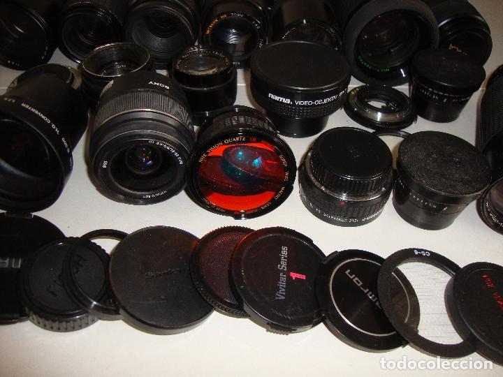 Cámara de fotos: INTERESANTE LOTE DE OBJETIVOS TAPAS COMPLEMENTOS DESCONOCEMOS EL TEMA - Foto 7 - 176413094