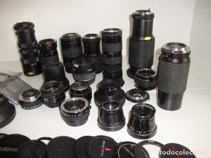 Cámara de fotos: INTERESANTE LOTE DE OBJETIVOS TAPAS COMPLEMENTOS DESCONOCEMOS EL TEMA - Foto 10 - 176413094