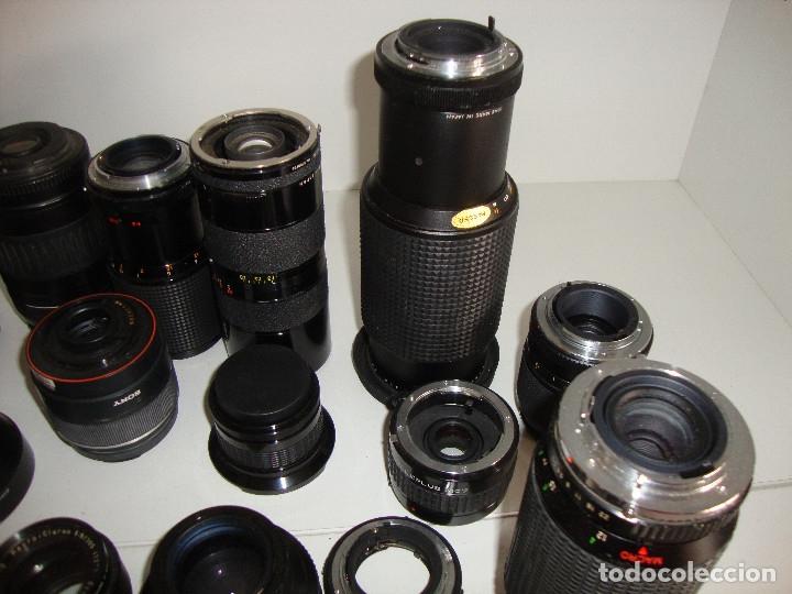 Cámara de fotos: INTERESANTE LOTE DE OBJETIVOS TAPAS COMPLEMENTOS DESCONOCEMOS EL TEMA - Foto 11 - 176413094