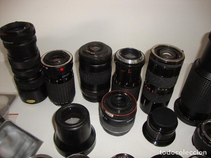 Cámara de fotos: INTERESANTE LOTE DE OBJETIVOS TAPAS COMPLEMENTOS DESCONOCEMOS EL TEMA - Foto 12 - 176413094