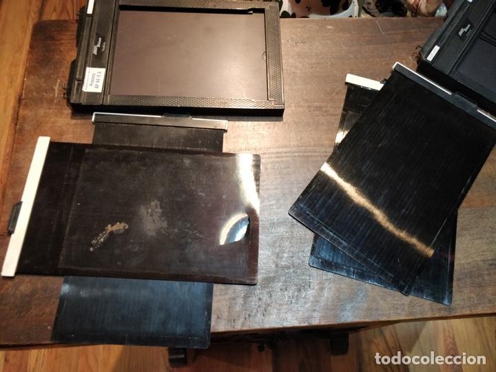 Cámara de fotos: 4 placas con dos fundas Agfachrome R 100 S - AP 44/E 6 - 13x18cm - Foto 4 - 177093060